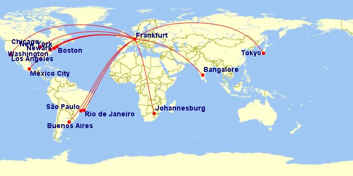 Bengaluru via Lufthansa